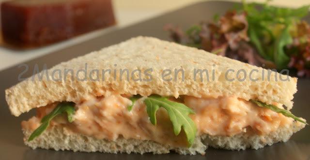 Sandwich de alioli de membrillo con rúcula. Concurso Santa Teresa
