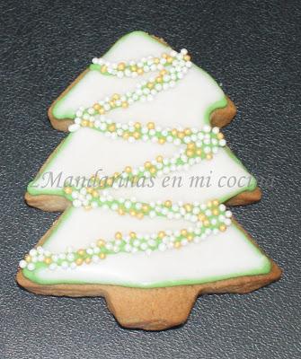 Abeto de navidad en forma de galleta