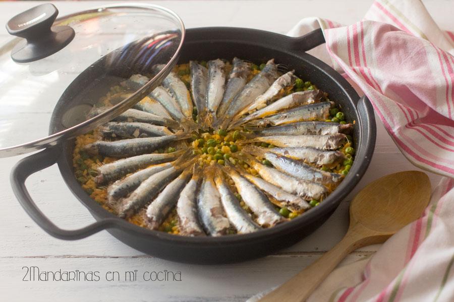 como preparar arroz con sardinas, receta tradicional