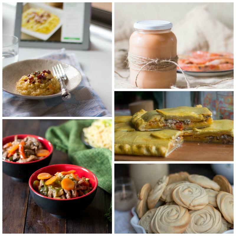collage de fotografías del paseo gastronómico por blogosferathermomix
