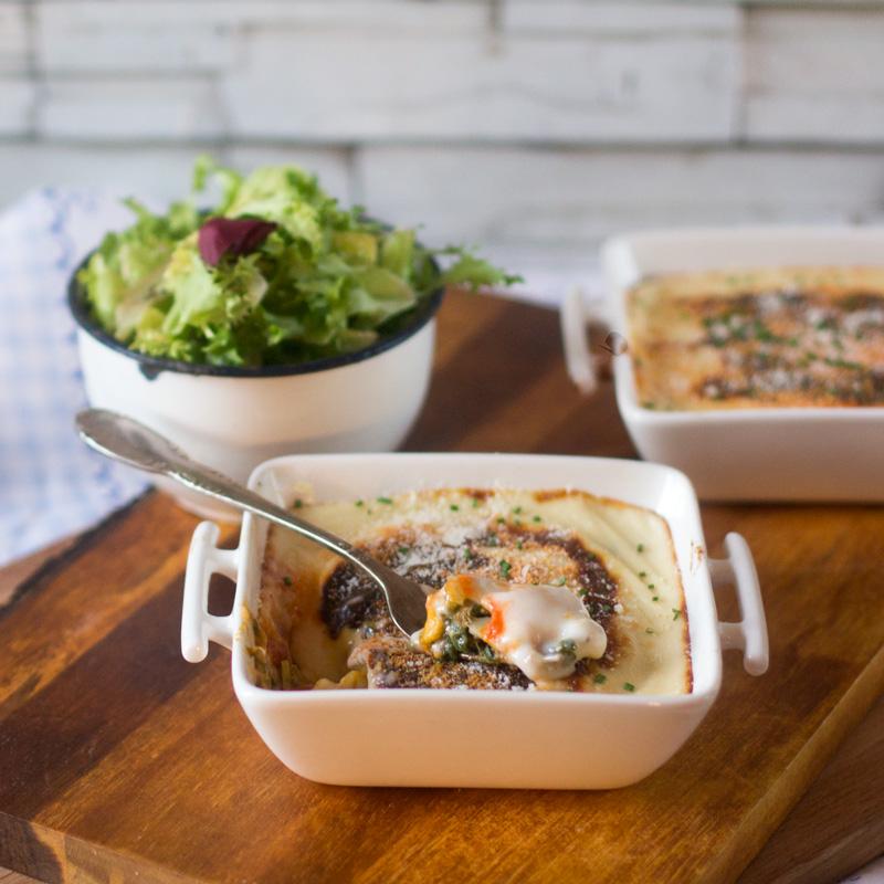 receta de canelones de espinacas y atún