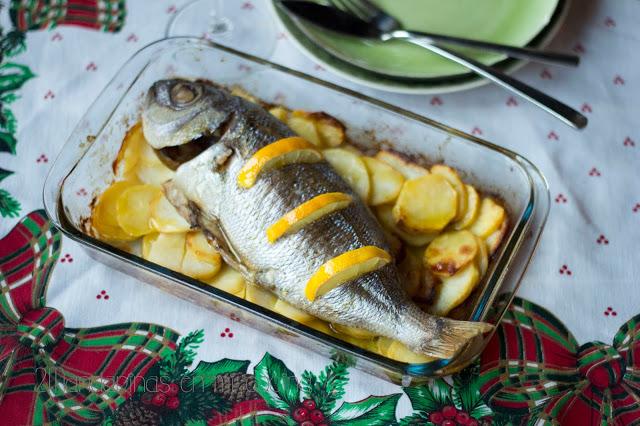 Cómo preparar Besugo al horno con patatas