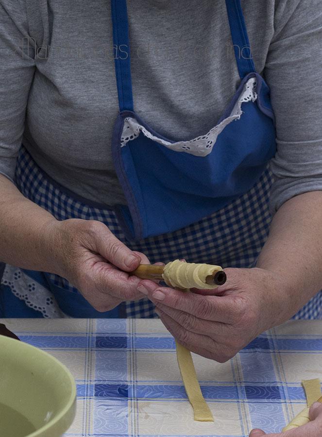 receta tirabuzones receta tradicional