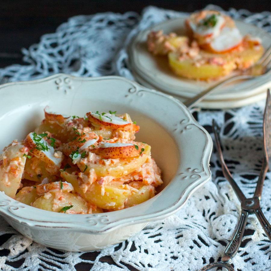 receta fácil de ensaladilla de patata con bogavante