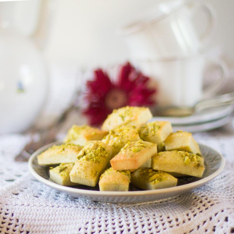 receta de financiers de pistachos