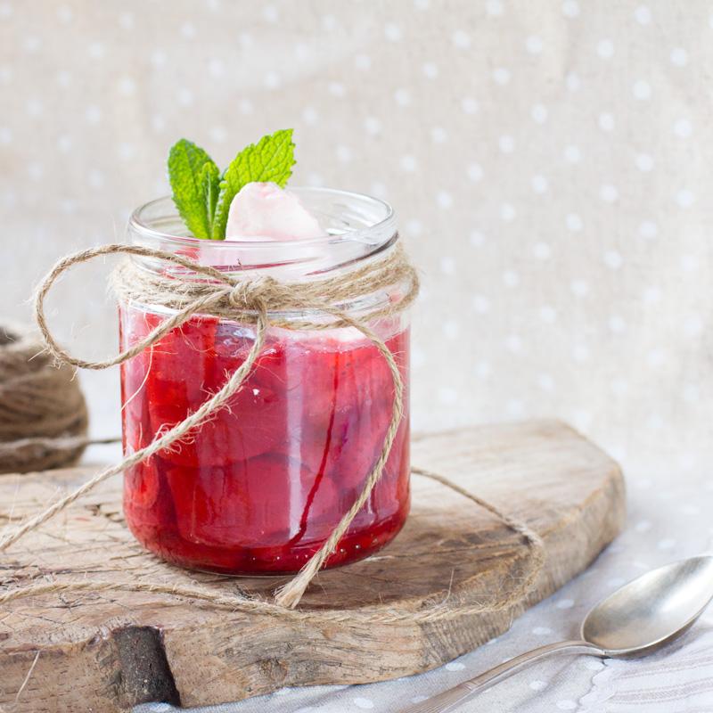 receta de fresas al calvados