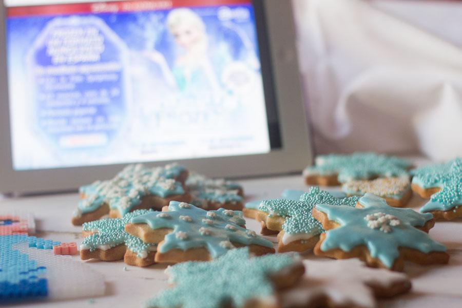 como preparar galletas decoradas con fondant de frozen el reino del hielo