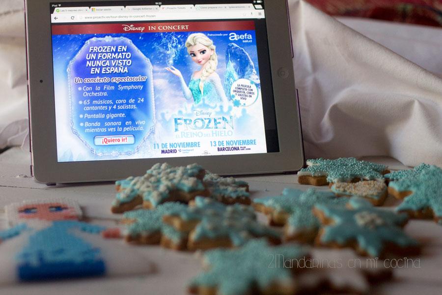 como preparar galletas decoradas de frozen reino del hielo