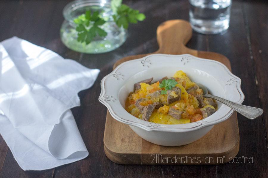 Estofado de lengua de ternera con patatas las recetas de - Cocina con joan roca ...