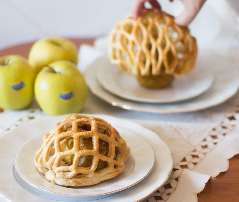Enrejado de hojaldre y manzanas asadas Receta
