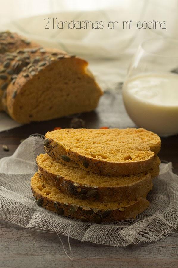 Pan de calabaza con semillas