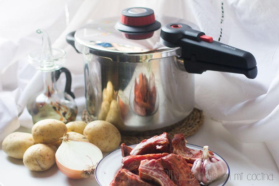 Patatas con costillas en olla selecta de monix 2 mandarinas en mi cocina blog de recetas de - Patatas en olla rapida ...
