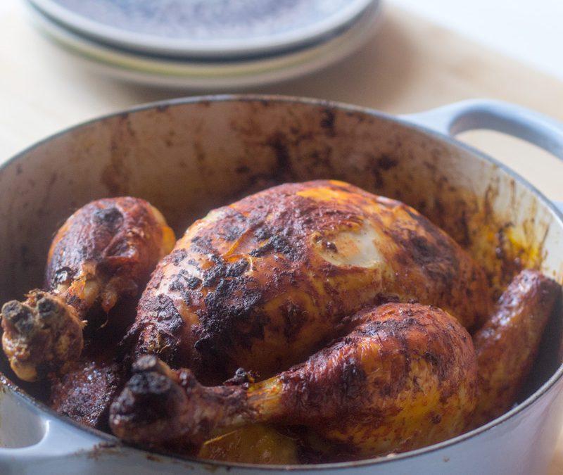 Pollo asado a la mexicana