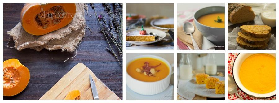 6 recetas con calabaza. Fáciles y deliciosas - 2 mandarinas en mi cocina | Blog de Recetas de Cocina. Carnes, pescados y postres
