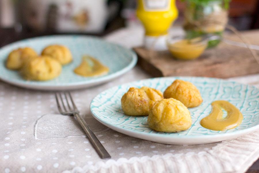 Sacos de patata con pollo en escabeche y salsa de mostaza Heinz con #MiToquedeMagia