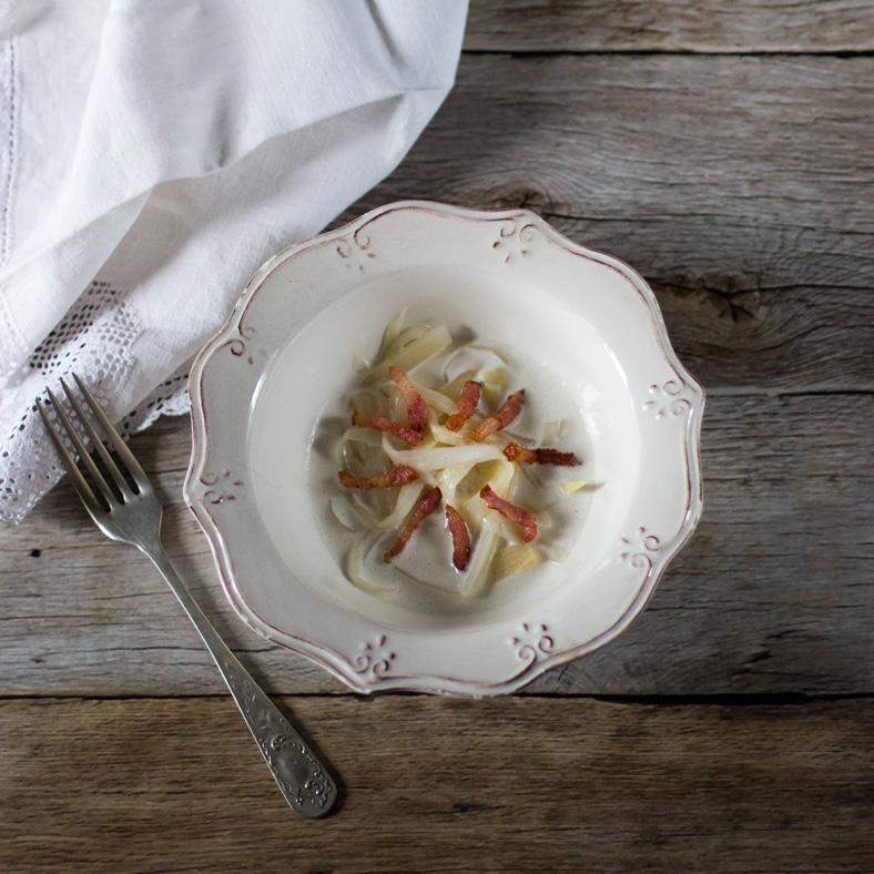 tallarines de espárrago blanco y carbonara de coco receta paso a paso