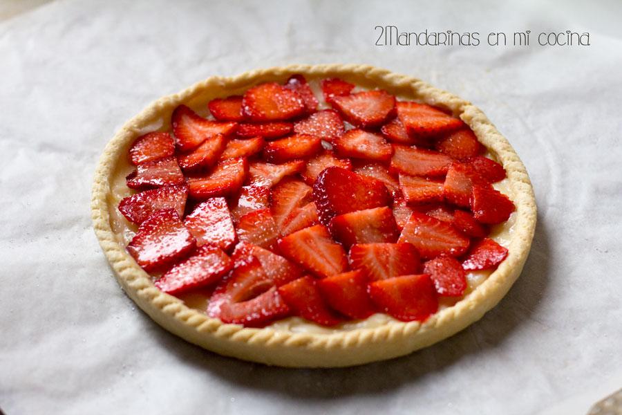 como preparar tartaleta de fresas con crema pastelera y masa quebrada