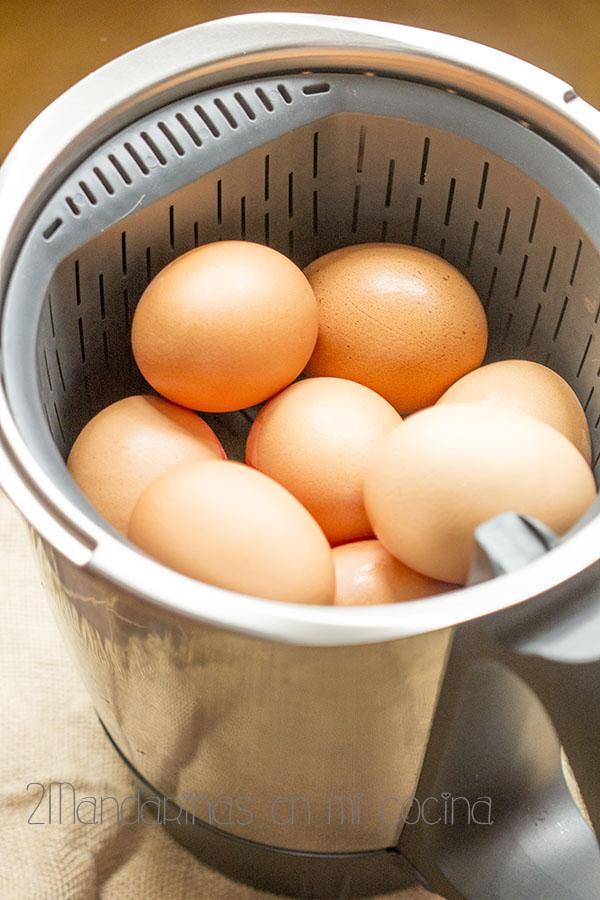 como cocer huevos en thermomix
