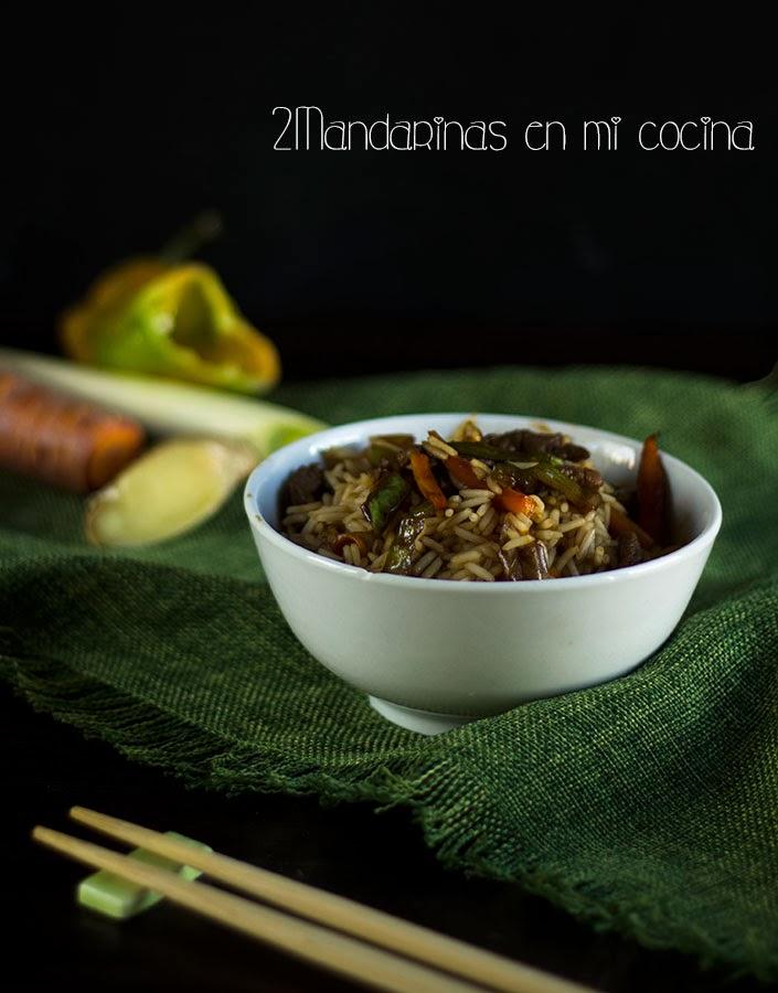 #MomentoSundãriThai. Wok de ternera con verduras y arroz Thai Jasmine