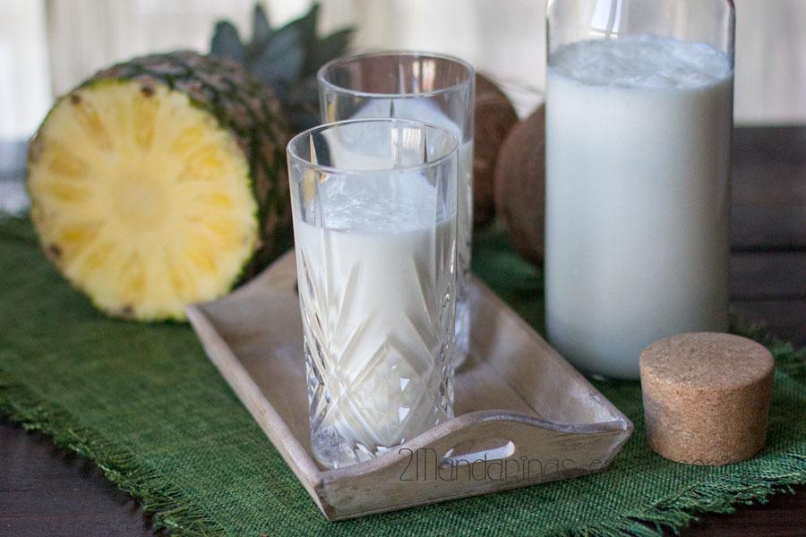 como preparar yogur liquido de piña colada con thermomix