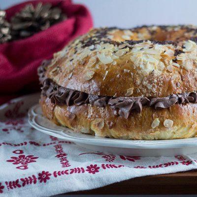 Cómo preparar Roscón de Reyes relleno de trufa con Thermomix