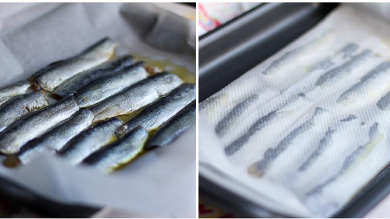 ajoblanco de nuez con sardina marinada, jamón ibérico y naranja