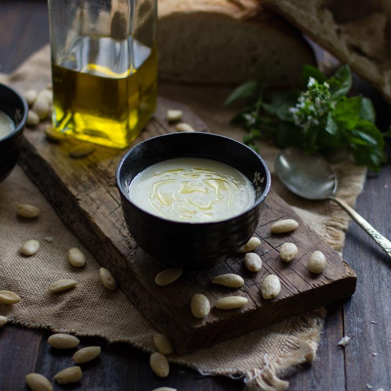 receta ajoblanco ajo blanco gazpacho blanco con thermomix