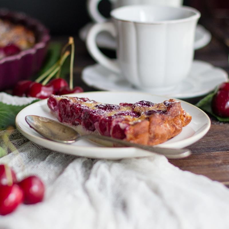 clafoutis de cereza receta