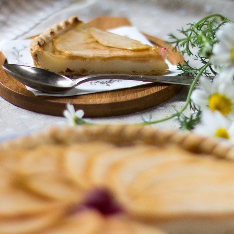 tarta de manzana crema pastelera con masa quebrada thermomix