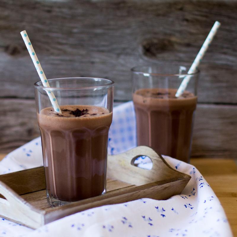 batido de brownie, receta