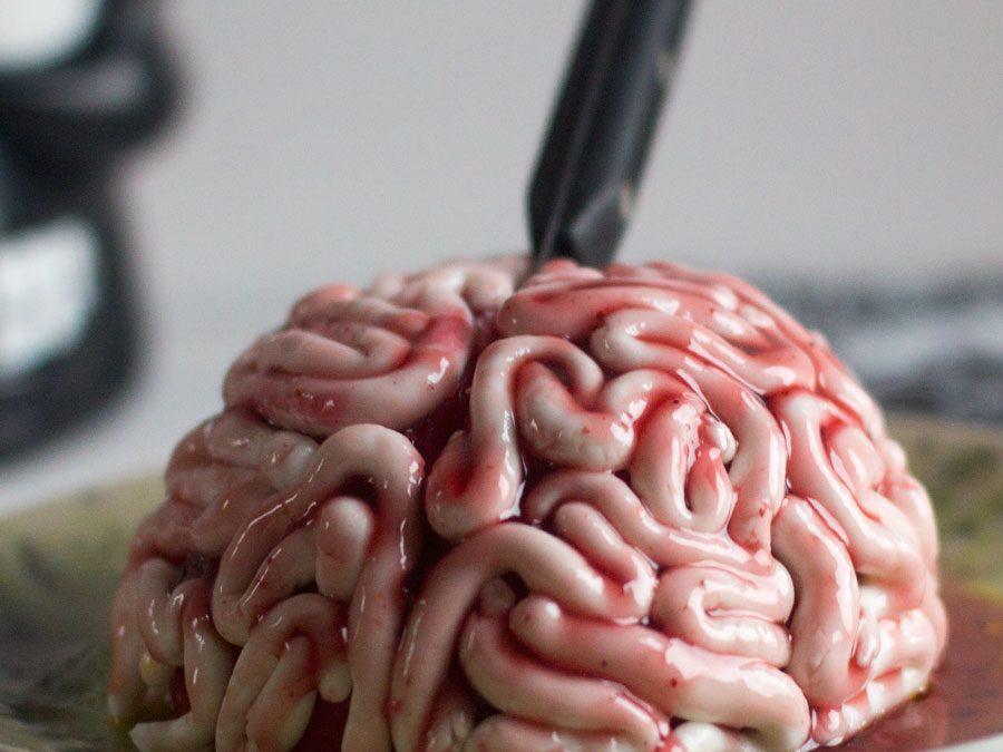 Tarta cerebro para Halloween