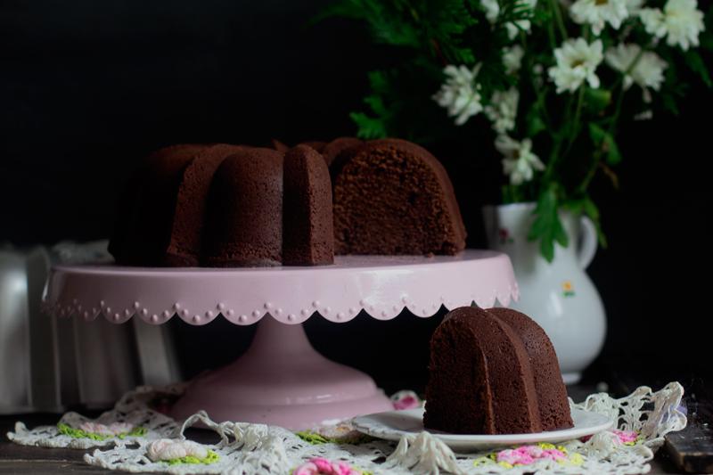 bundt cake de chocolate y crema de whisky