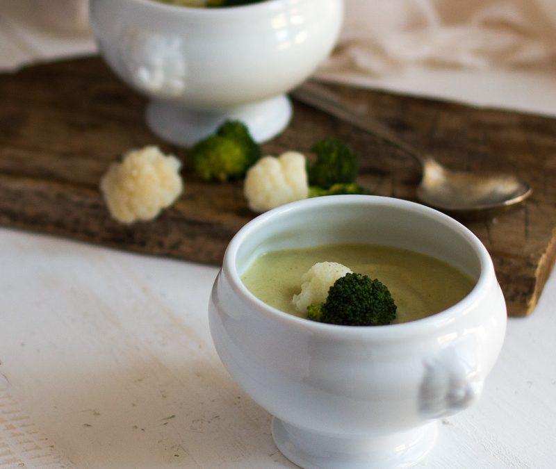 Crema de coliflor y brócoli con Thermomix