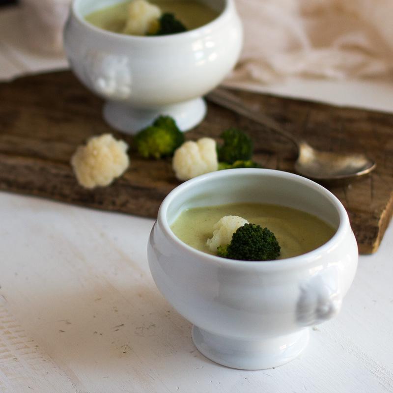 receta de crema de coliflor y brocoli con thermomix