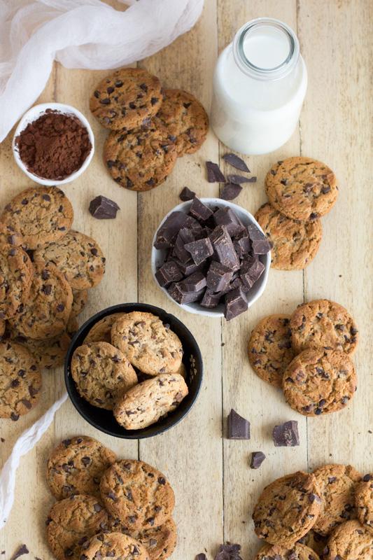 receta paso a paso de cookies de chocolate