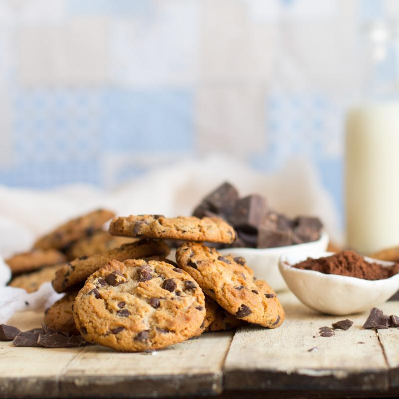 receta paso a paso cookies de chocolate