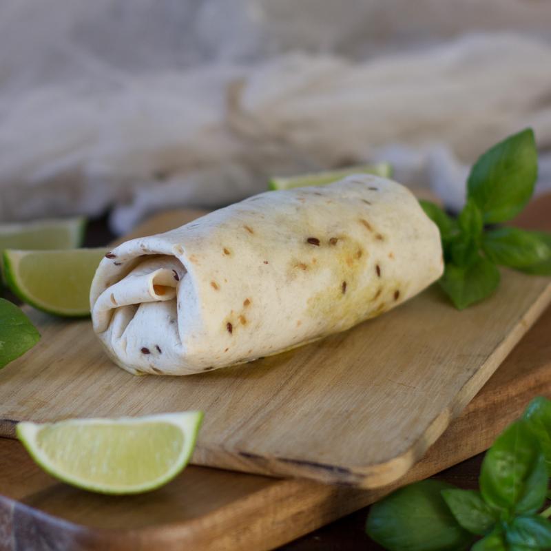 receta de wrap con caballa en conserva, verduras y lima