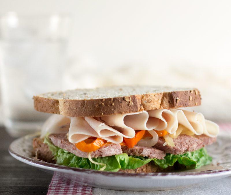 Sandwich de corned beef. #ConservaLaLínea