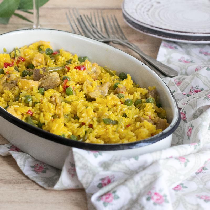 arroz con pollo en olla rapida receta