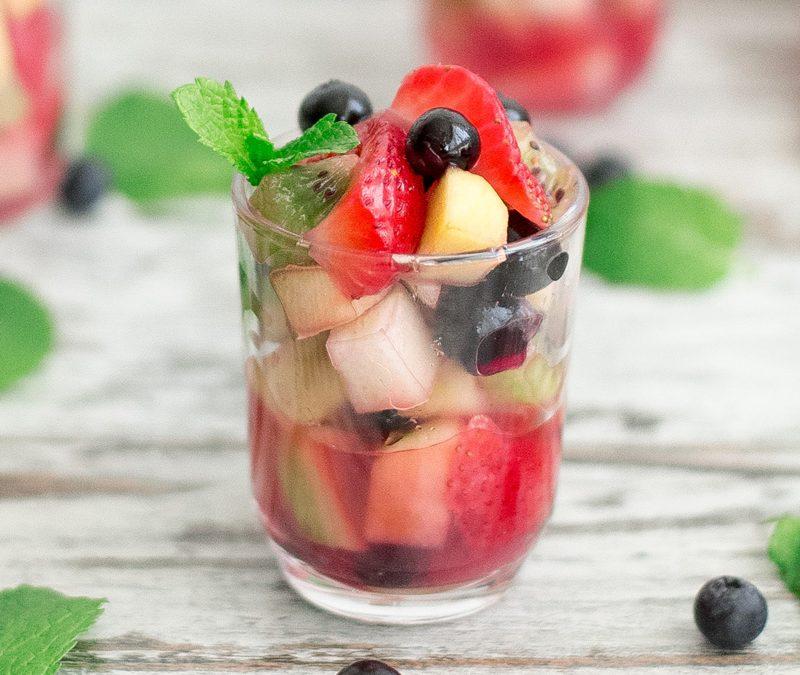 Macedonia de frutas al calvados con Thermomix