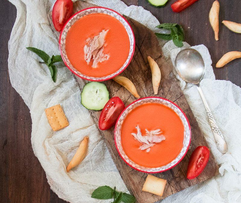 Gazpacho tradicional con melva. #Conservalalínea