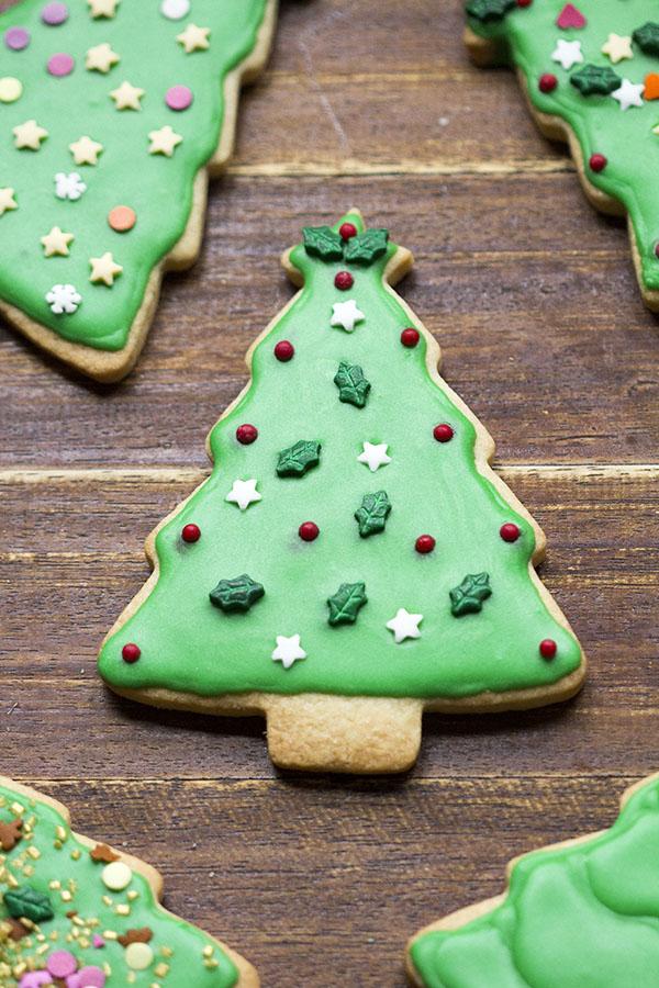 Galletas de Navidad decoradas con glasa real